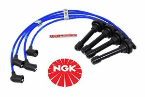 Honda Prelude H22a H22 Engine Ngk Spark Plug Wires He65 Free Wire Separators Kit