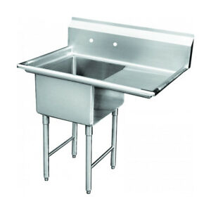 1 Compartment Sink With 1 Right 18 Drain Board Nsf