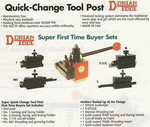Dorian Quadra Tool Post Set Ca 16 To 20 Holders 4