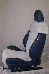 Mini Cooper Factory Sheepskin Seat Covers inserts beige Color one Pair