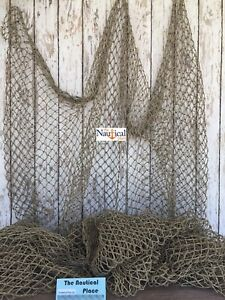 Authentic Used Fishing Net 5 x10 Commercial Fish Netting Old Vintage Decor