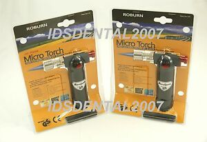 2 Pcs Butane Micro Torch Dental Lab Cooking Soldering