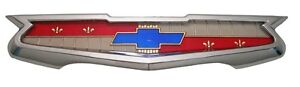 1958 Chevy Impala Trunk Emblem Assembly 1956 Chevrolet 210 150 6 Cylinder