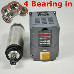 3kw Water cooled Spindle Motor 3kw Matching Inverter Four Bearing 24000rpm