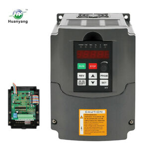 Variable Frequency Drive Inverter Vfd 3kw 4hp 13a Huan Yang Brand For Cnc