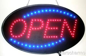 Ultra Bright Animated Oval Led Neon Light Open Sign Super Size 23 X 14 U730