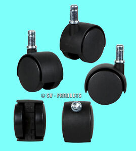 New Office Chair Caster Twin Wheel Rollers Set 50 Pcs 131