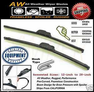 2pc 22 19 Direct Oe Replacement Premium All Weather Windshield Wiper Blades