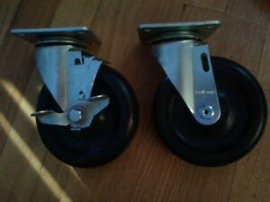 4 New Colson Industrial Polyolefin Casters 5 By 1 1 4