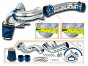Blue Cold Air Intake Kit Dry Filter For Ford 96 04 Mustang Gt 4 6l V8
