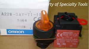 Omron 3 Position Momentary Amber Switch 110v Led No Nc