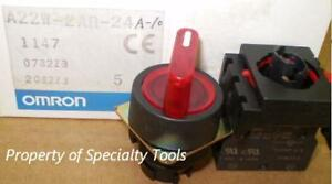 Omron 2 Position Momentary Red Switch 24v Led No New