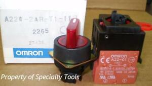 Omron 2 Position Momentary Red Switch 110v Led Nc No