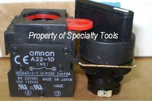 Omron 2 Position Momentary Black Switch 2 No Contact