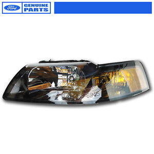 New Oem 2001 2004 Ford Mustang Left Headlight Black