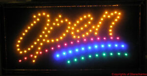 Animated Led Neon Light Open Sign W Multi Color 741