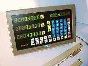 Digital Readout Dro Kit W Glass Scales Mill 2 Axis New