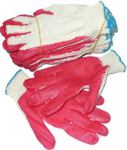 Red Rubber Coated Heavy Weight Work Gloves 100 Pairs