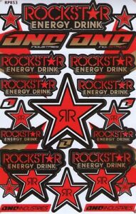 Rockstar Energy Motocross Racing Graphic Stickers Decals 1 Sheet St75