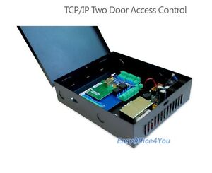 2 door Tcpip Access Control Panel With Power Supply Box