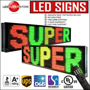 Led Super Store 3c rgy ir 2f 12 x41 Programmable Scroll Message Display Sign
