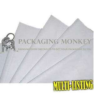 White Acid Free Tissue Paper All Sizes Pack Qty s