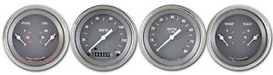Classic Instruments Sg Series 3 3 8 Speedo Dual Sg05slf 4 Gauge Set Flat Glass