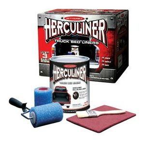 Herculiner Truck Bedliner Kit Black Roll On Kit Hcl0b8