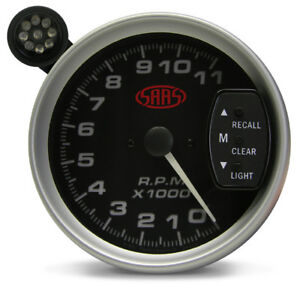 Saas 5 Inch Tachometer With Led Shift Light