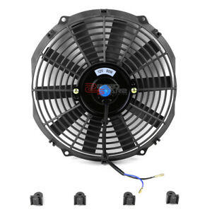 2x 12 1550 Cfm Black Slim Electric Cooling Radiator Fan