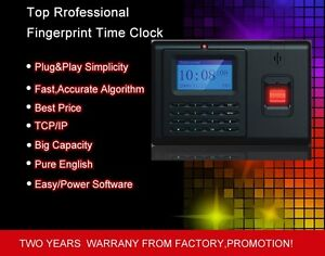 Tcp ip Standalone Fingerprint Employee Clock In Clock Out Time Attendance