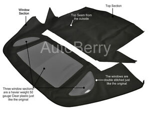 Mercedes R129 300sl 500sl 600sl 90 02 Convertible Top Replacement Black Stayfast