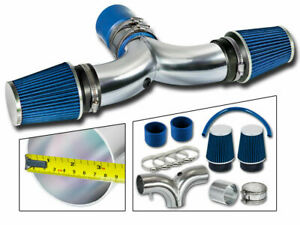 Dual Twin Air Intake Kit Blue Filter For 03 08 Ram1500 5 7l V8 Hemi