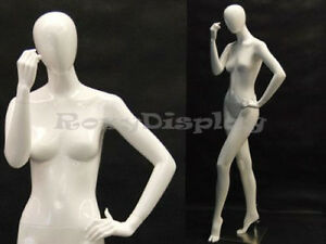 Fiberglass Mannequin Manikin Dress Form Clothing Egg Head Gloss Display Md c8