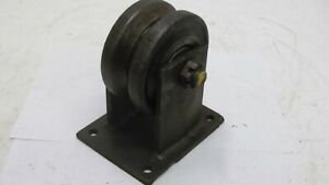 V groove Roller Bearing Metal Wheel By Caster Concepts 1 axle Good Cond 3 1 4x6