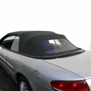 Chrysler Sebring Convertible Top Replacement With Plastic Window 1996 2006 Black