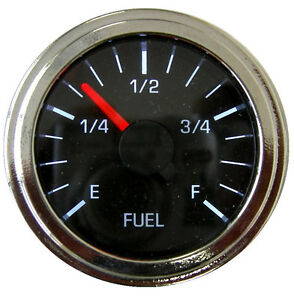Fuel Gauge 2 52mm Programmable Black Chrome Led Low Fuel Warning 001 F Bc