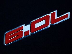 2 Chevy Gm Cadillac Corvette 6 0l Ls2 Crate Engine Emblems Badge Red Pair New