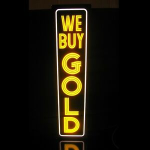 We Buy Gold Led Sign Jewelry Pawn Shop Vertical Light Box Neon Alternative