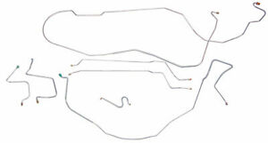 Fits 1997 2000 Jeep Wrangler Tj Power Disc Brake Line Set Without Abs Stainless