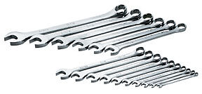 Sk Superkrome 16pc Long Pattern Sae Combo Wrench Set 1 4 To 1 1 4 Usa 86018