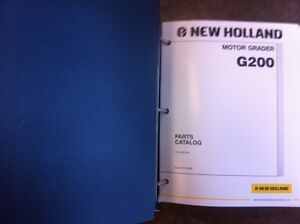 New Holland Road Grader G200 Complete Parts Manual