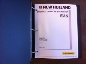 New Holland Excavator E35 Complete Parts Manual