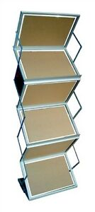 Folding Literature Display Rack Double Sided