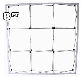 8 Ft Fabric Pop Up Trade Show Display Frame Package Straight Single Side
