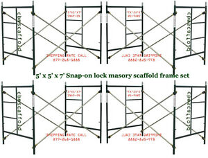 4 Set Of New Snap on 5 X 5 X 7 Masonry Scaffolding With X Brace Cbmscaffold