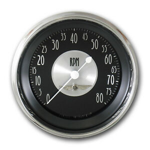 Classic Instruments All American Tradition Series Tach Gauge 3 3 8 Hot Rod