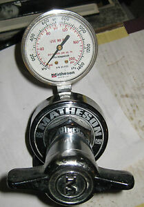 Matheson 3476 Pressure Gauge Regulator Inlet 350 Psi tag 373