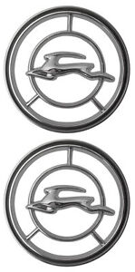 1965 1966 Chevy Impala Front Fender Emblem Pair Made In Usa