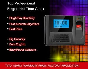 Fingerprint Time Clock Employee Payroll Recorder Punch